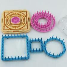 9pcs Flower Shape Knitting Loom Knitter Weaver Kit Set DIY Wool Yarn Needle Tool