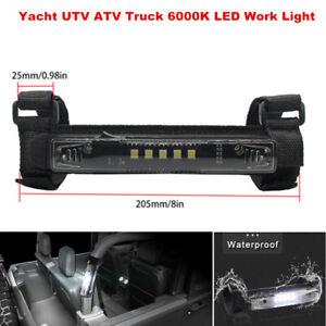 6000K LED Work Light Roof Bumper Bracket Light Guard Bar For UTV ATV Truck Yacht