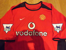FERDINAND MANCHESTER UNITED 2002/03 MAGLIA SHIRT TRIKOT WORN ISSUED MATCH GAME