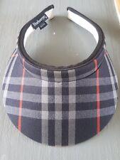 Burberry cheque Sun Visor Hat Deportes Golf Tenis Diseñador en muy buen estado Unisex para Hombre para Mujer