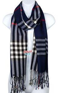 Unisex Blanket Oversized Tartan Scarf Wrap Shawl Plaid Cozy Checked Pashmina