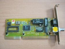 LAN-PUCT ISA network adapter with BNC and RJ45.