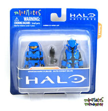 Halo Minimates TRU Toys R Us Wave 3 Spartan Mark VI (Blue) & Elite Combat (Blue)