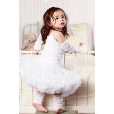 Girls White Rosette Pettidress by Huggalugs, NWT, Size 1-2 Years, Boutique Clot