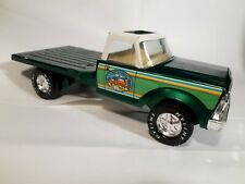 """Vintage Nylint Farms Green Metal Flatbed Truck 11.5"""" RARE EXCELLENT CONDITION"""