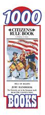 Original Citizens Rule Book Bill of Rights Jury Handbook Pocket Size (1000 pack)