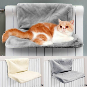 Strong Hanging Cat Hammock Pet Resting Seat Plush Pet Shelf Foldable Washable