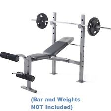 Gold's Gym XR 6.1 Weight Bench Press, 4-Roll Leg Developer Chest Thigh Calf Arms