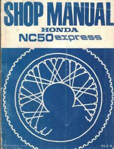 HONDA EXPRESS NC50,NA50 K1,Z,A 1978,1979,1980 FACTORY WORKSHOP MANUAL