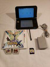 🔥Nintendo 3DS XL Bundle SPR-001 Blue W/ charger games 4GB memory card🔥