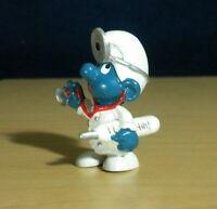 Smurfs Doctor Smurf 20037 Red Black Thermometer Vintage Figure PVC Toy Figurine