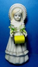 Vintage Country Girl  Porcelain Sewing Pin Cushion Doll Figurine  #2