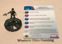 Heroclix Maria Hill #018 USED from Captain America Booster Pack
