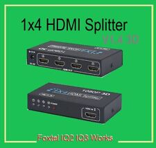 1 In 4 OUT HD 1080P 3D 1.4 HDMI Splitter Duplicator Amplifier Switch AC Adapter