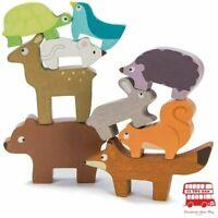 Le Toy Van - Wooden Petilou Forest Stacker & Bag Educational