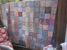 Killer World Without End antique quilt,7,788 pieces,twin/double,all by hand, NC