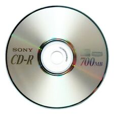 25-Pack SONY Brand Blank Logo CD-R CDR Disc Media 52X 80 Min 700MB