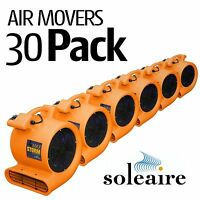 30 Pack Soleaire Orange Max Storm Air Mover Carpet Floor Blower Fan Water Damage