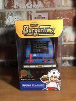 "My Arcade BurgerTime Micro Player 6"" Collectable Arcade NIB. Never Opened."
