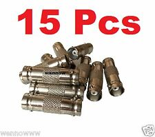 15 Pcs BNC Female to BNC Female CCTV Security Camera Adapter Straight Connector