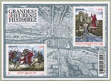 Feuillet F4704 - Les grandes heures de l'histoire de France - 2012