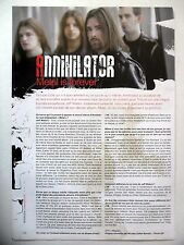 COUPURE DE PRESSE-CLIPPING :  ANNIHILATOR  08-09/2007 Jeff Waters,Metal