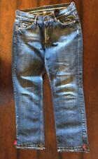 Vertigo Women's Jeans SISCO Size 29 Straight Leg Mid Rise Zip Fly Blue Denim