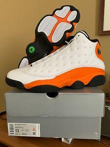 Air Jordan 13 Starfish White Black Orange 414571-108 Size 13 14  SHIPSFRIDAY