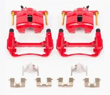 Power Stop S1460 Performance Front Brake Calipers Powder Coated Red Pair