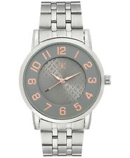 I.N.C. International Concepts Men's Silver-Tone Link Bracelet Watch 42mm NIB