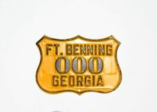 1950's Ft. Benning License Plate Tag Topper - US Army, Georgia