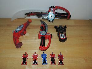 Power Rangers Super Megaforce Deluxe Mega Saber Red Sword Gun Ranger Keys Tested