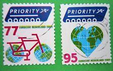 Nederland NVPH 2621 - 2622 Europa en buiten Europa priority 2009 gestempeld