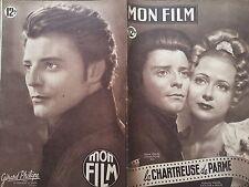 """MON FILM 1949 N° 134 """" LA CHARTREUSE DE PARME """"- GERARD PHILIPPE et RENEE FAURE"""