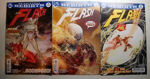 The Flash 6, 7, 8 NM DC Rebirth comics 2016 1st Full Godspeed CW TV show