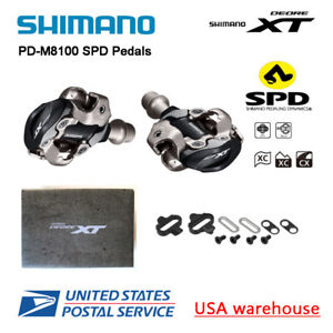 New Shimano Deore XT PD-M8100 SPD XC MTB Mountain Bike Clipless Pedals & Cleats