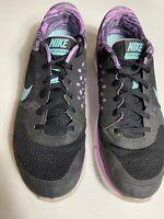 Nike Flex 2015 Run 748444-006 Women's Running Shoes US Size 10 Black Purple Blie