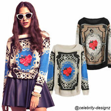 Wool Floral Jumpers & Cardigans for Women