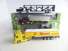 NOREV / WELLY 3 CAMIONS + REMORQUE 1/87 eme