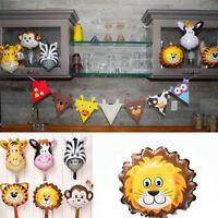 5Pcs Animal Head Shape Foil Balloon Wedding Birthday Party Baby Shower Decor