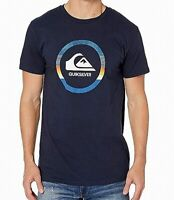 Quiksilver Mens T-Shirt Blue Size XL Snake Dreams Graphic Crewneck Tee 053