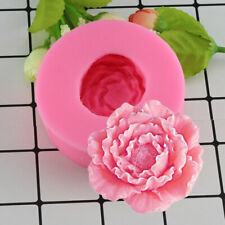 Mujiang 3D Peony Shape Silicone Fondant Molds Flowers Handmade Soap Candle Cl…
