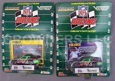 Nfl Racing Car & Card Set Minnesota Vikings & Green Bay Packers Racing Champ '92