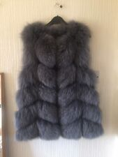 Genuine Fox Fur Sam-Rone Grey Gillet Excellent Condition Size 12