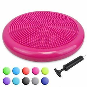 Posture Inflated Stability Wobble Cushion w/Pump ADHD School Classroom Child Sit
