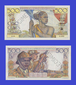 French West Africa 500 francs 1944  UNC - Reproduction