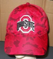 OHIO STATE RED CAMO CAP HAT BACK STRAP ADJUSTABLE