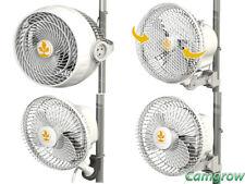 More details for secret jardin monkey clip on fans pole mounted- 13w - 16w- 20w oscillating - 30w