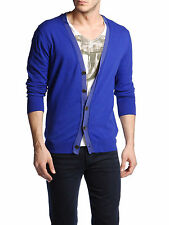 DIESEL BLACK GOLD KARMINIS BLUE CARDIGAN SIZE L 100% AUTHENTIC