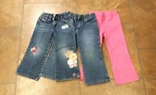Lot of 3 pants 3T. 2 blue and a pink